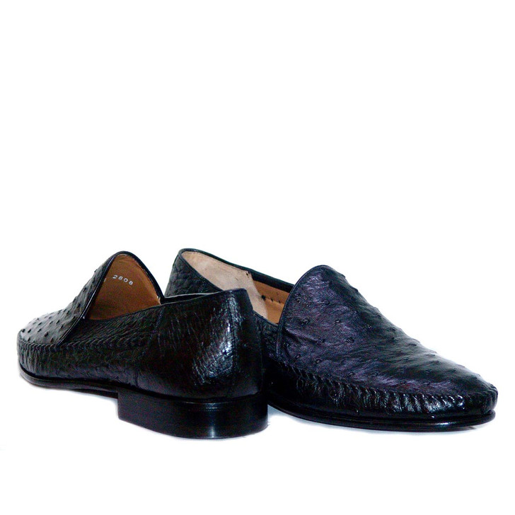 Aldo Brue 165 Full Ostrich Plain Loafer Black FINAL SALE