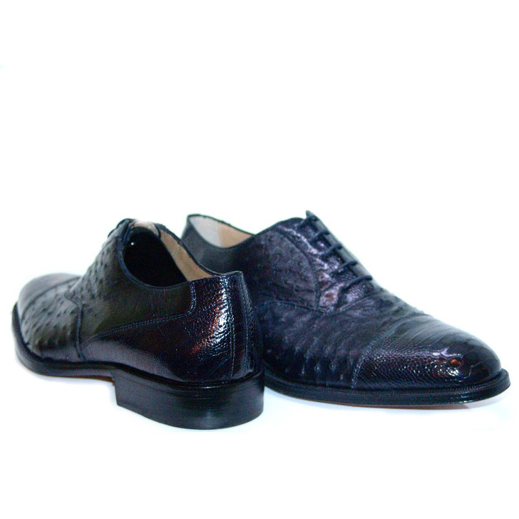 Romano Martegani 4621 Ostrich Cap Toe Navy FINAL SALE