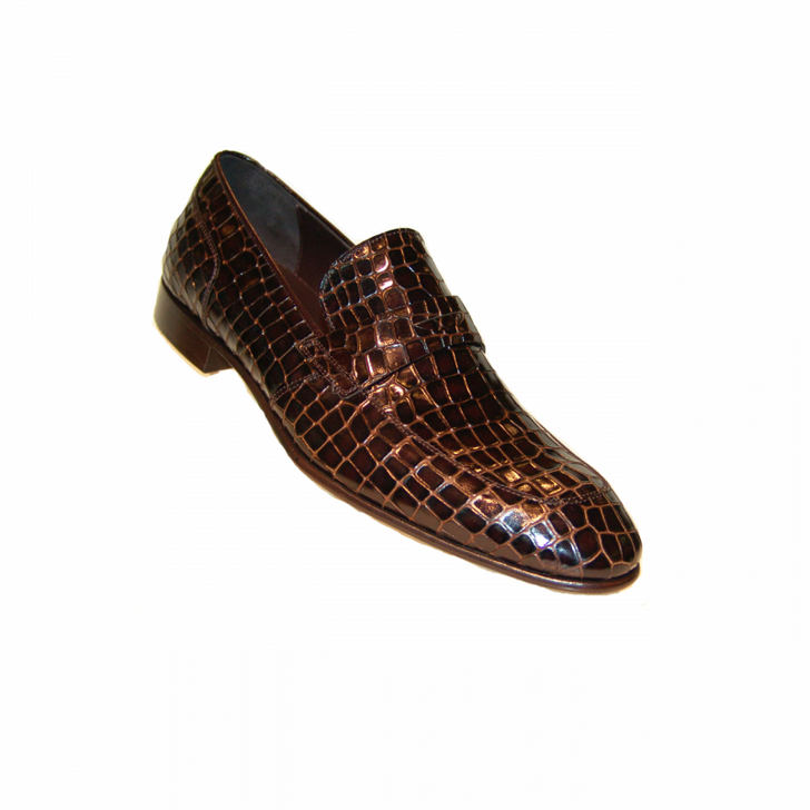 Corrente 3470 Croc print loafer- Brown