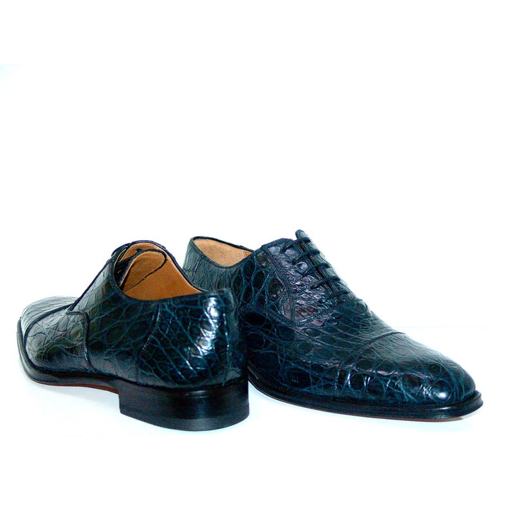 Magnanni 10522 Crocodile Cap Toe Navy- FINAL SALE