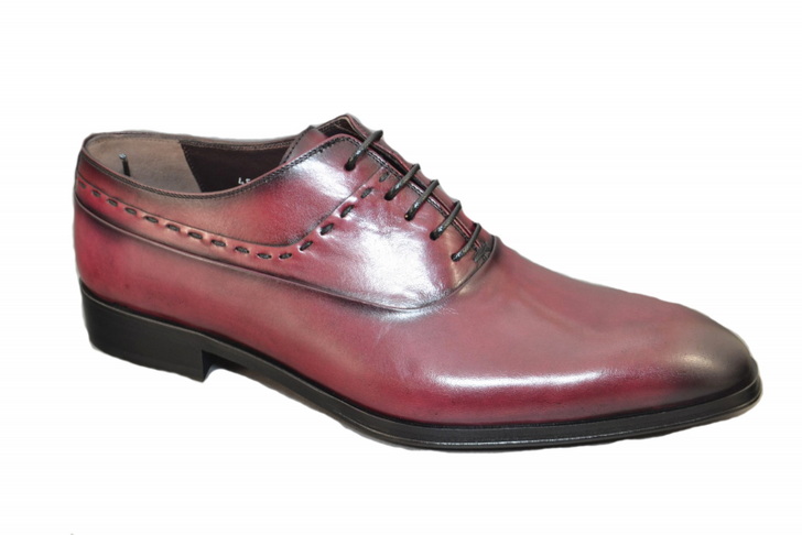 Corrente 4573 Plain toe lace up- Burgundy
