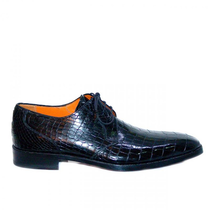 Mezlan Alligator Lace Up 3173A Black