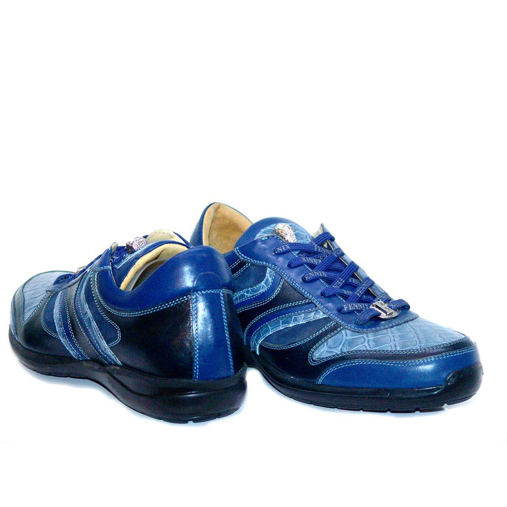 Fennix 3045 Alligator & Calfskin Two Tone Sneaker Blue- FINAL SALE