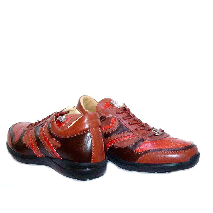Fennix 3045 Alligator & Calfskin Two Tone Sneaker Rust