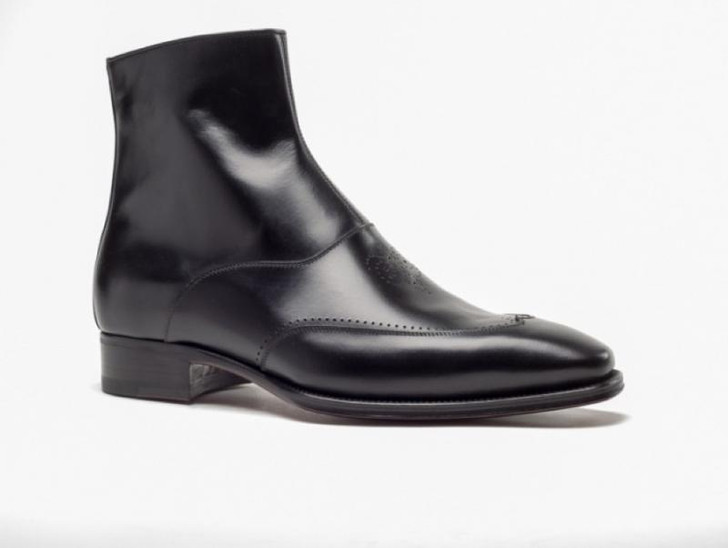 A.Testoni 45619 Black Dress Boot- FINAL SALE