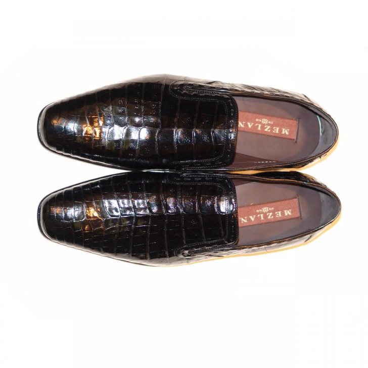 Mezlan, Grande, Alligator Loafer Black