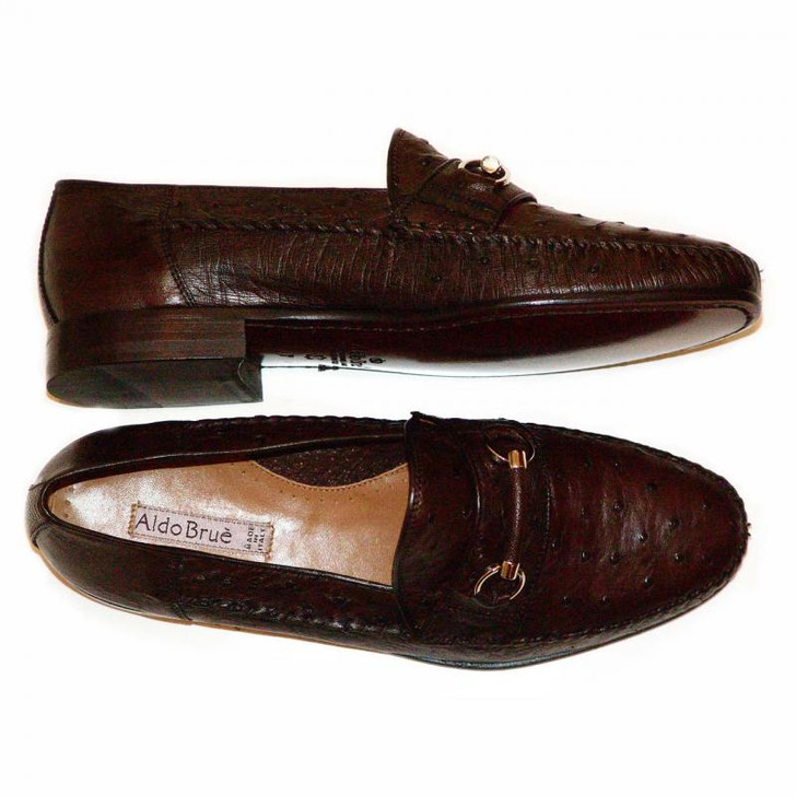 Aldo Brue 166 Brown Ostrich