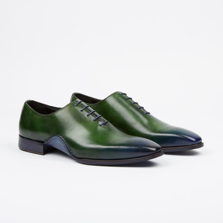 Fertini 8805 Plain toe lace up- Green/Navy FINAL SALE