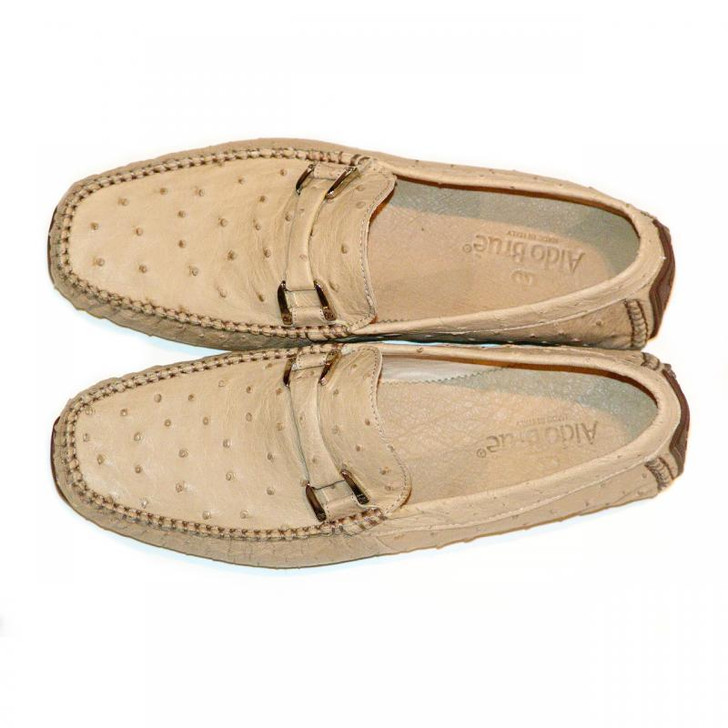 Aldo Brue Andrea Taupe Genuine Ostrich- FINAL SALE