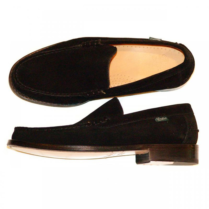 Paraboot Yale Leather Loafer Black Suede
