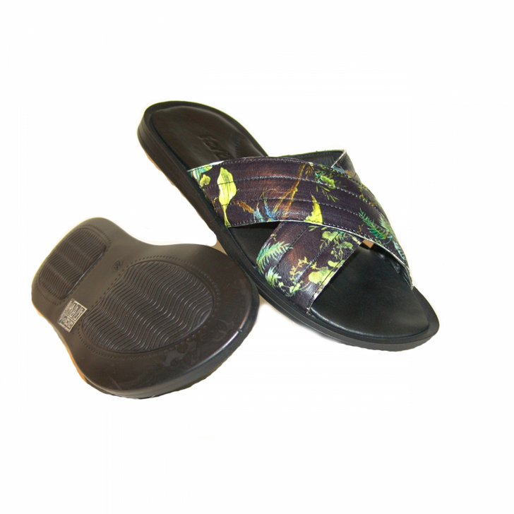 fertini F01 Sandal Black Leaf