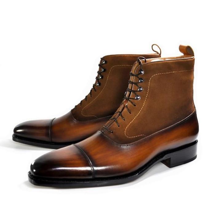 Ugo Vasare- Austin Cap toe Boot- Camel