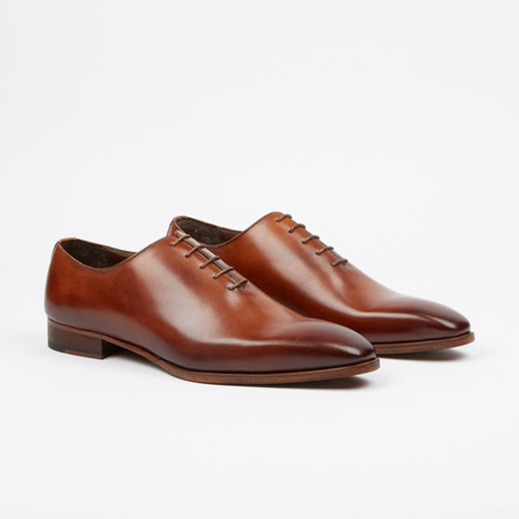 Fertini 8805-1 Plain toe lace up- Tabacco