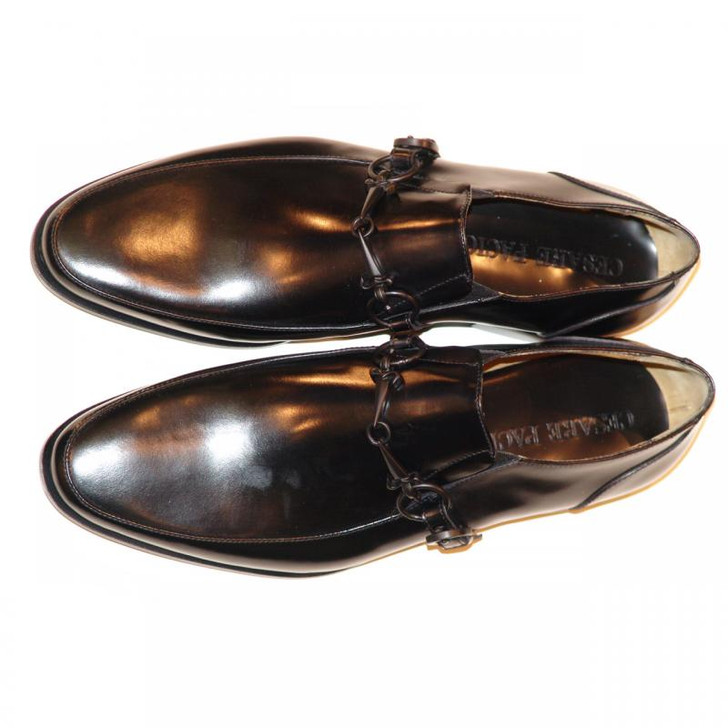 Cesare Paciotti 47738 Black Loafer With Dager Buckle