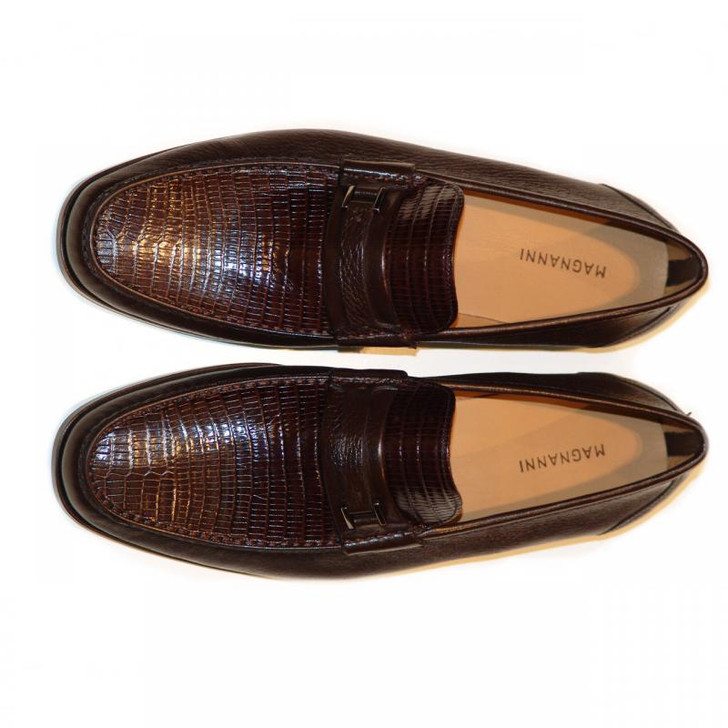Magnanni 13126 Brown Lizard & Deerskin Soft Loafer FINAL SALE