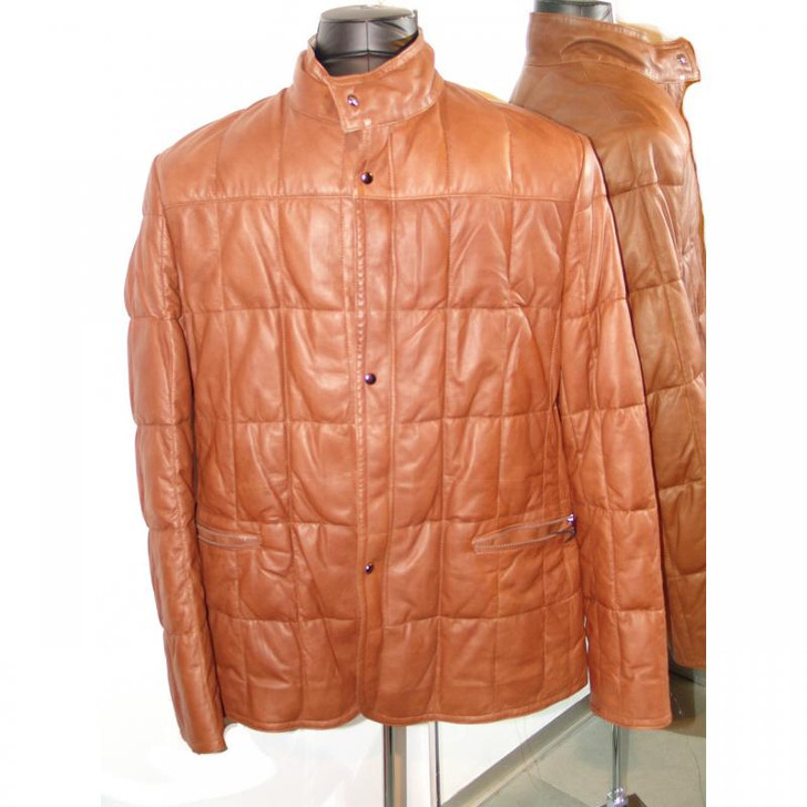 Pelleline Goose Down 3/4 Leather Jacket