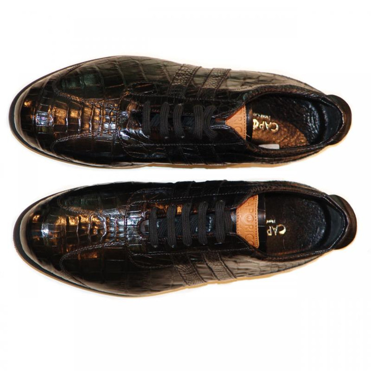 Caporicci 9412 Black Full Alligator Sneaker FINAL SALE