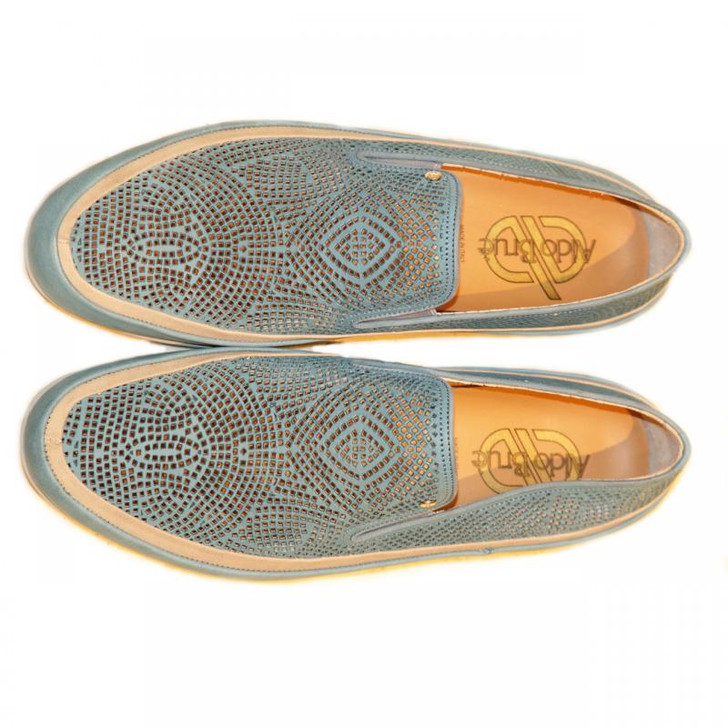 Aldo Brue 1598 Perforated Nubak Loafer Blue