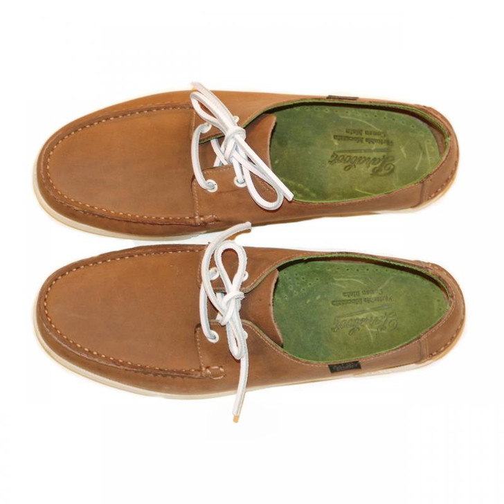 Paraboot Domingue Boat Shoe Taupe With Lime Green Inside