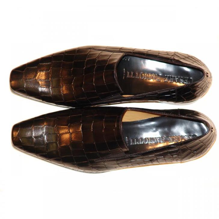 Cesare Paciotti 47465 Alligator Design Loafer Black