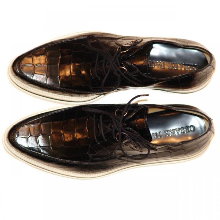 Cesare Paciotti 47834 Alligator Design Lace Up Black