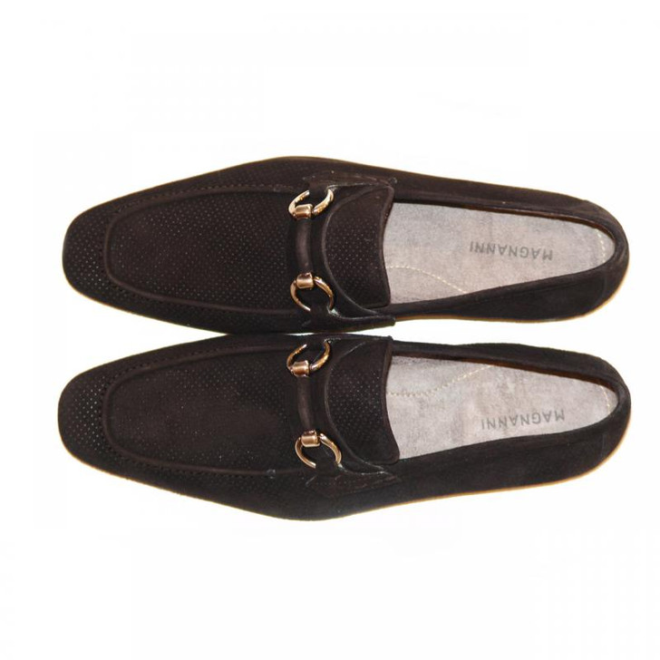 Magnanni 13008 Black Perforated Suede With Light Weight Super Flex Sole