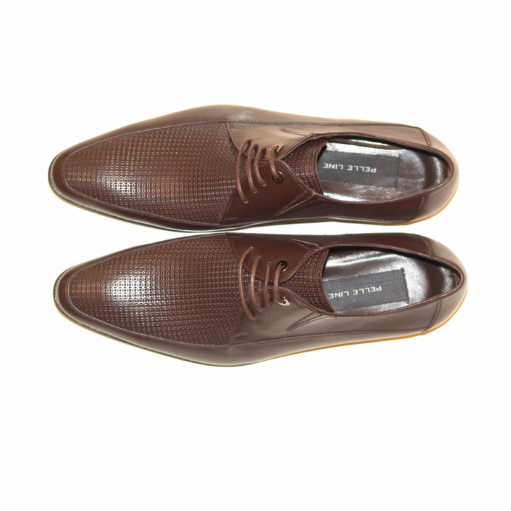 Pelle Line Exclusive 3605 Perforated Lace Up Brown