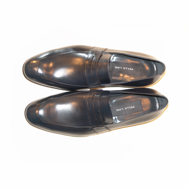 Pelle Line Exclusive 4106 Fashion Penny Loafer Navy FINAL SALE