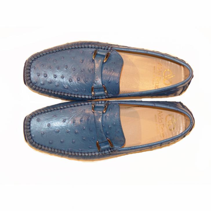 Aldo Brue Andrea printed leather Ostrich/ Blue