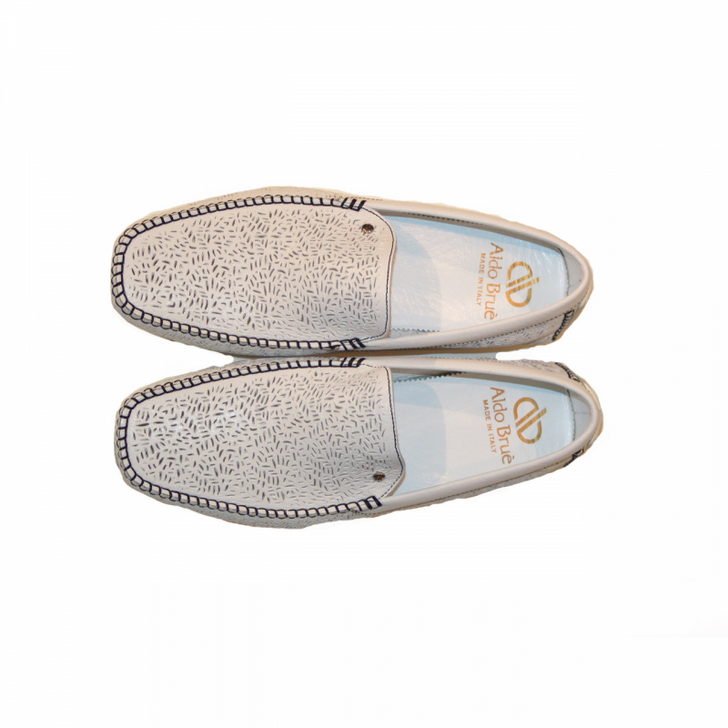Aldo Brue Bello Perforated Leather White