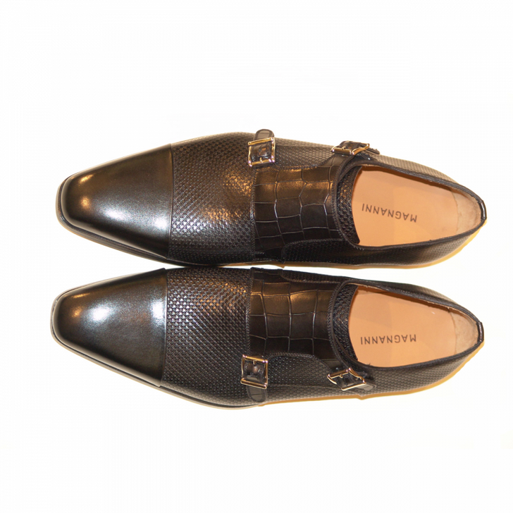 Magnanni Seleccion Collection 8407 Double Monkstrap Black
