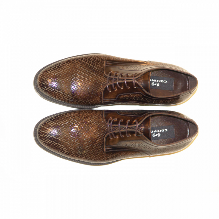 Corrente 3334 laser print casual lace up- Brown