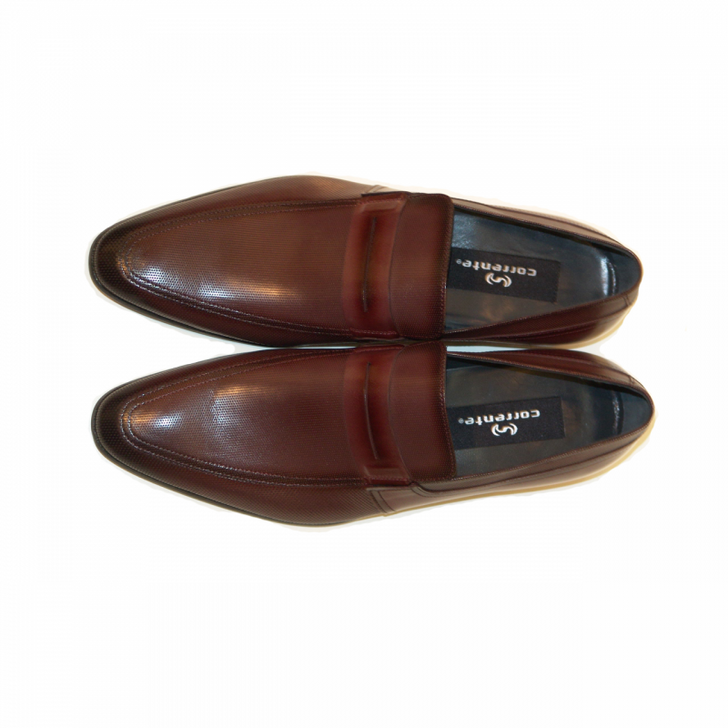 Corrente 4127 Perforated Loafer- Burgundy FINAL SALE