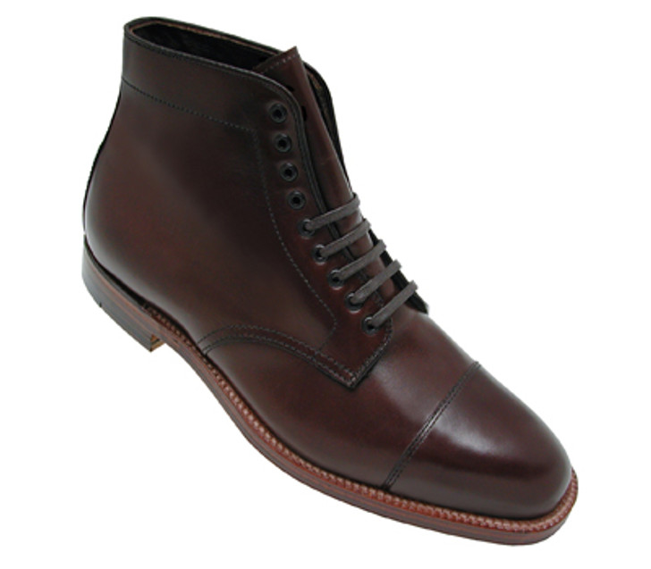 Alden 3912 Straight Tip boot Brown