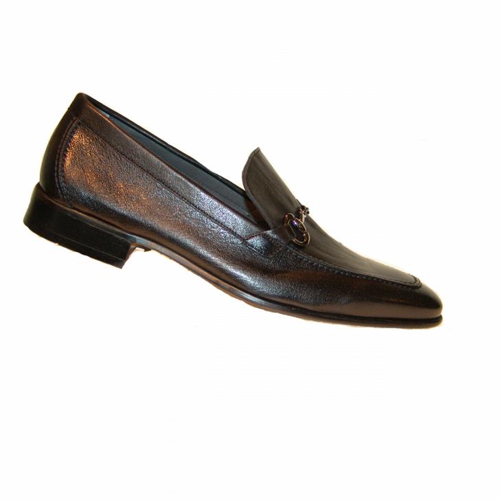 Corrente 4428 Buckle loafer- Black