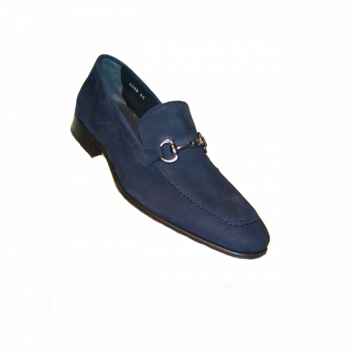 Corrente 4428 Buckle loafer- Navy Suede