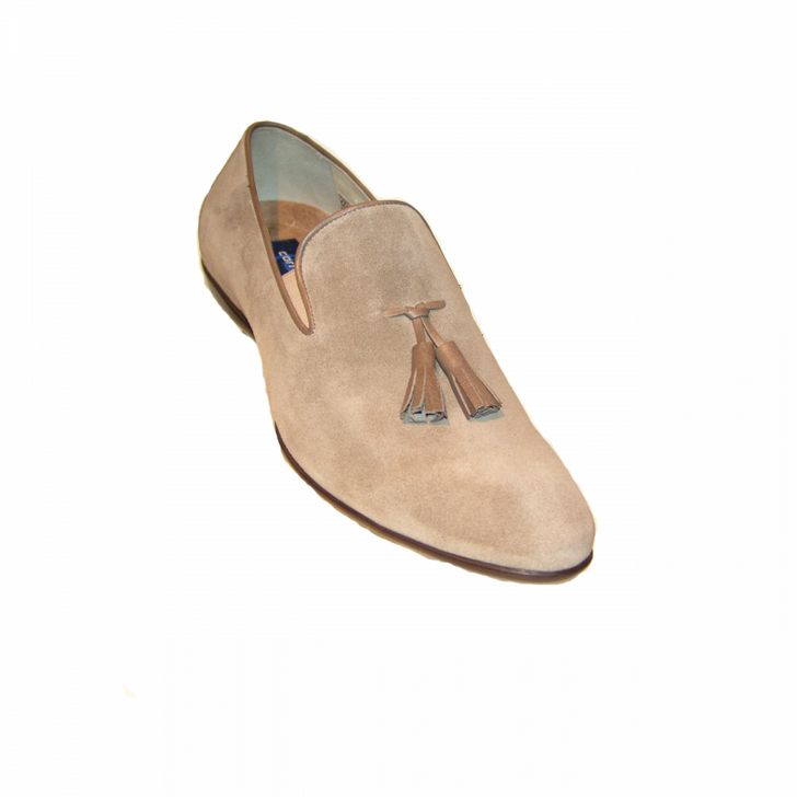 Corrente 15003 Tassel Loafer - Taupe Suede
