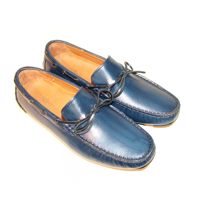 Pelle Line Exclusive 7810- Blue driving shoes