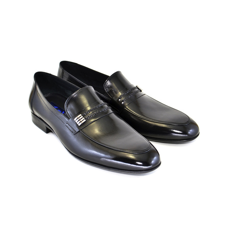 Corrente 5119-classic loafer Black