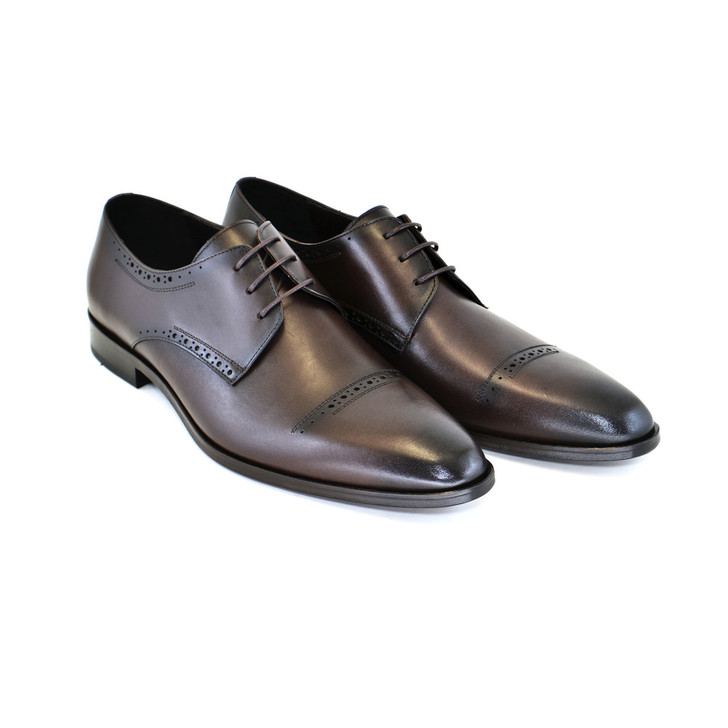 Corrente 4766- Cap toe lace up Brown