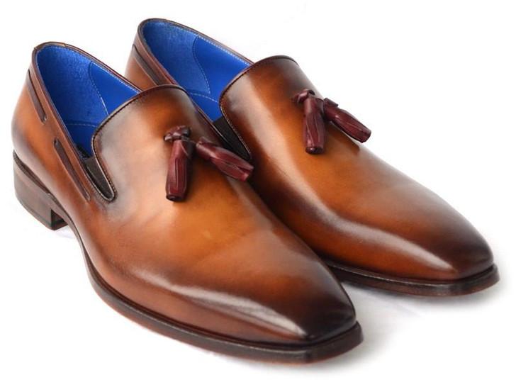 Paul Parkman Men's Tassel Loafer Walnut Leather Sole Leather Upper (ID#5141-WALNUT)