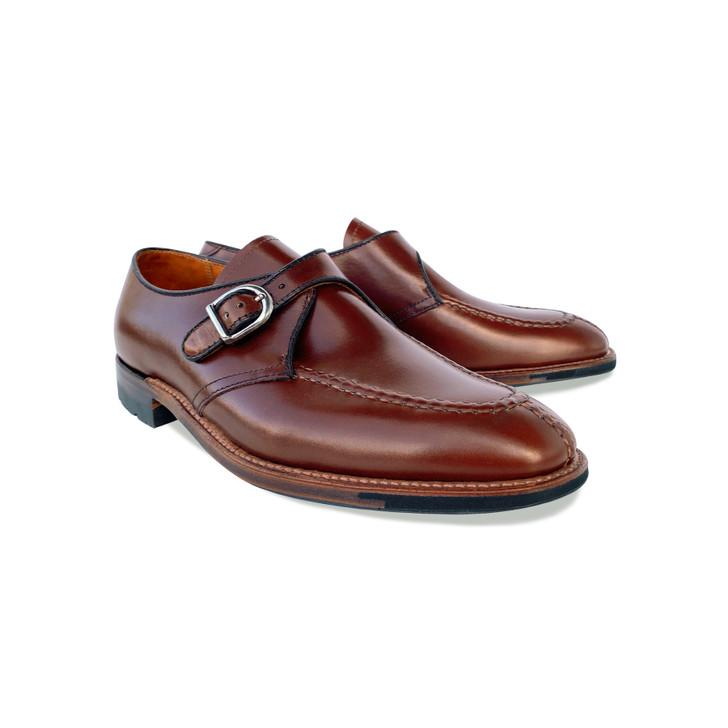 Pelle Line Exclusive Alden 8611- New Cigar Madison Leather - Commando Sole  split toe monkstrap
