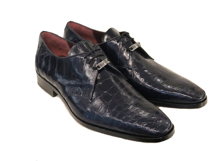 Copy of Pelle Line Exclusive Bravo- Alligator Lace up Navy
