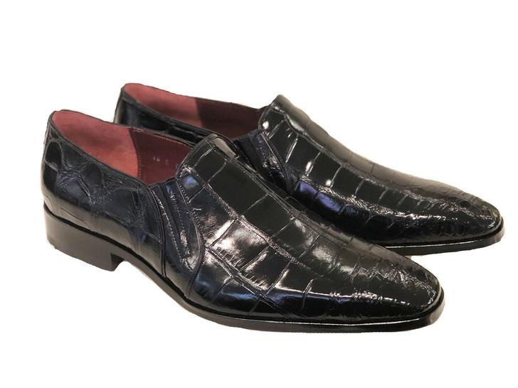 Pelle Line Exclusive Bellini- Alligator Loafer Black