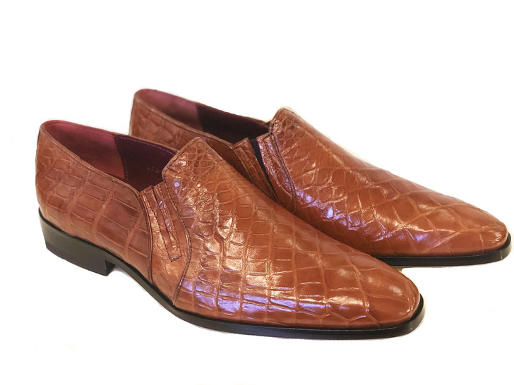 Pelle Line Exclusive Bellini- Alligator Loafer Cognac