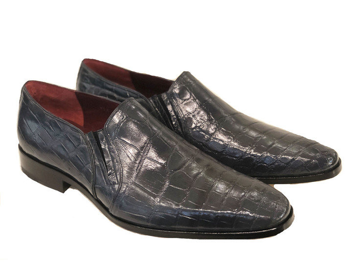 Pelle Line Exclusive Bellini- Alligator Loafer Grey