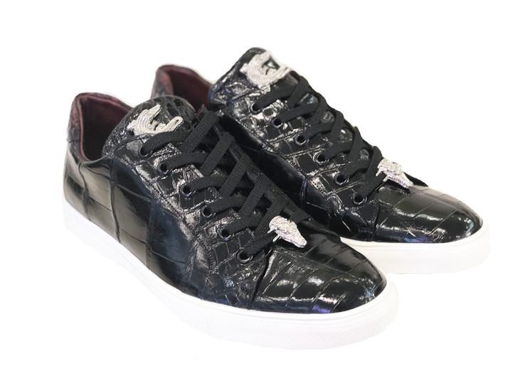 Pelle Line Exclusive Lucio- Full alligator Sneaker Black
