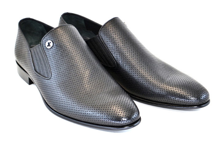 Corrente 3804 Perforated loafer Black