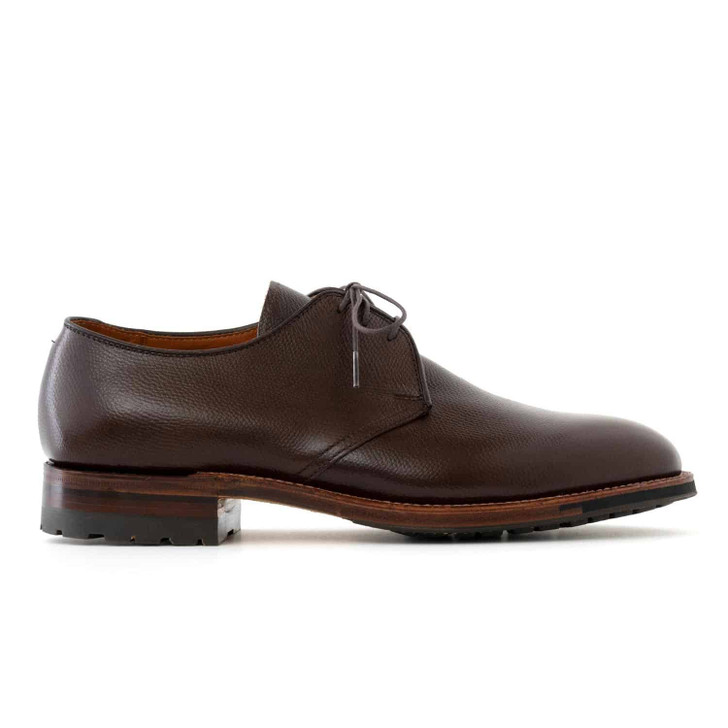 Alden 941C 3 Eyelet Plain Toe Blucher- Dark Brown Alpine Grain