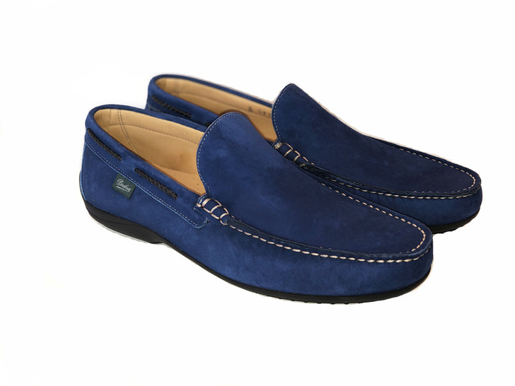 Paraboot Starter Soft Leather Moccasin Blue Suede